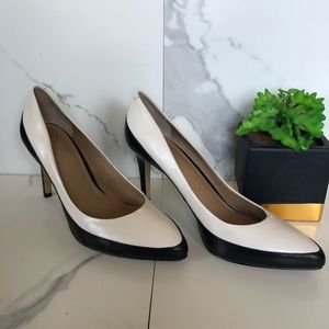 Ann Taylor Black And White Leather Heels